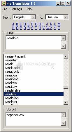 Pantallazo My Translator