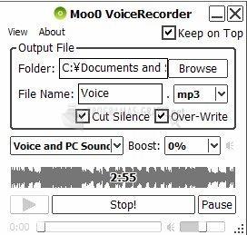 Captura Moo0 VoiceRecorder