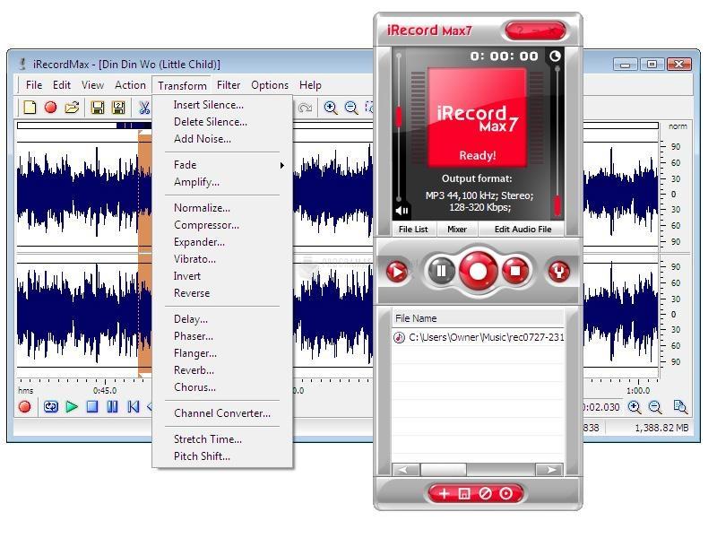 Pantallazo iRecordMax Sound Recorder