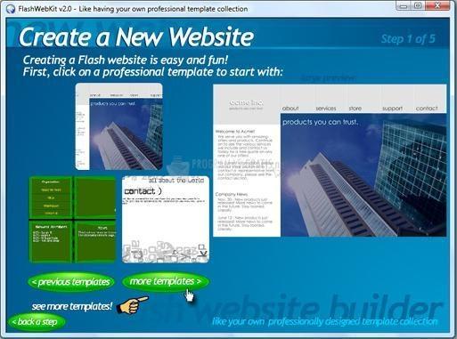 Pantallazo Flash Web Kit