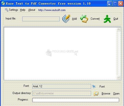 Pantallazo Ease Text to Pdf Converter