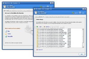 Pantallazo WinUtilities File Shredder