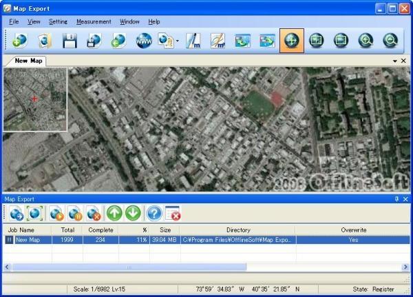 Pantallazo Map Export