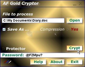 Pantallazo AF Gold Cryptor