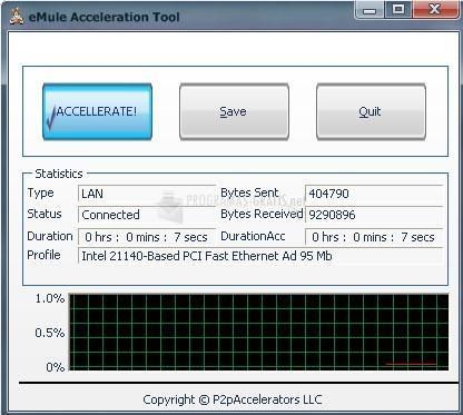Pantallazo eMule Acceleration Tool