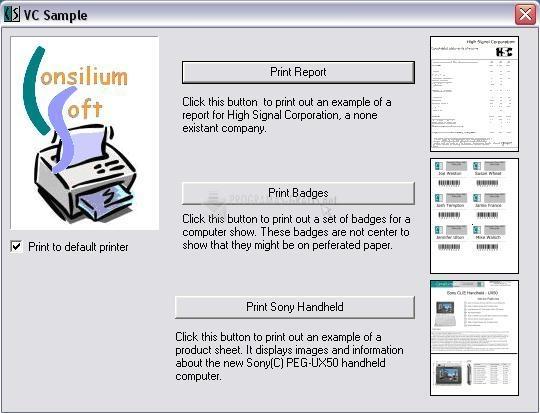 Pantallazo CS Printing Engine