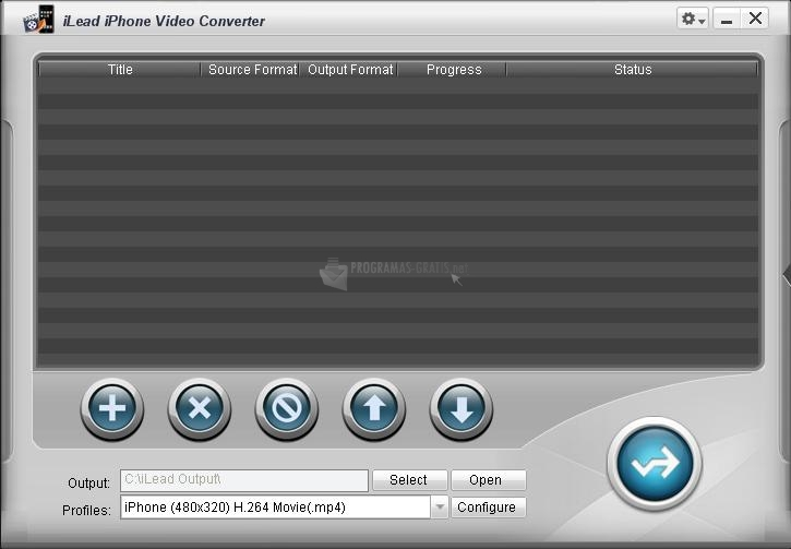 Pantallazo iLead iPhone Video Converter