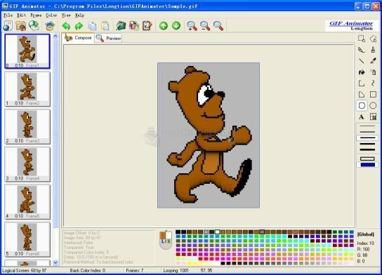 Pantallazo Longtion GIF Animator