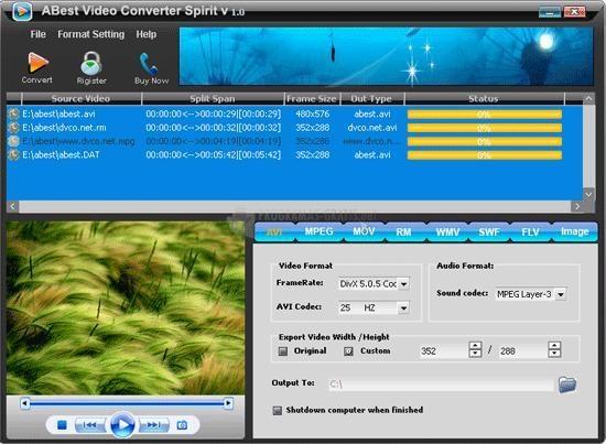 Pantallazo ABest Video Converter Spirit