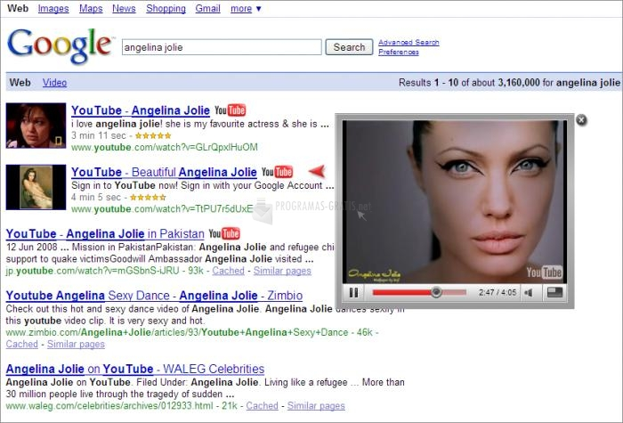 Pantallazo Google Tube