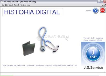 Pantallazo Historia Médica Digital