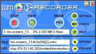 Pantallazo Windows Media Stream Recorder