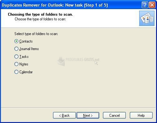 Pantallazo Duplicates Remover for Outlook