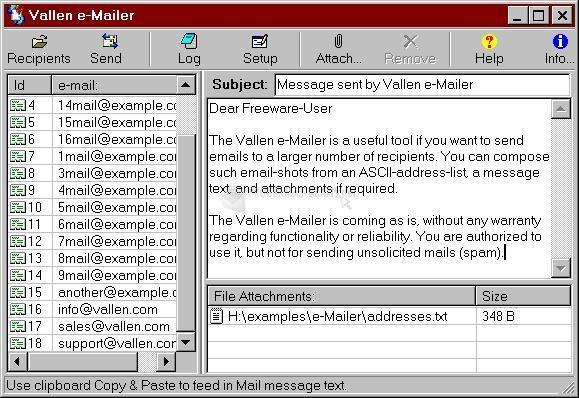 Pantallazo Vallen e-Mailer 2