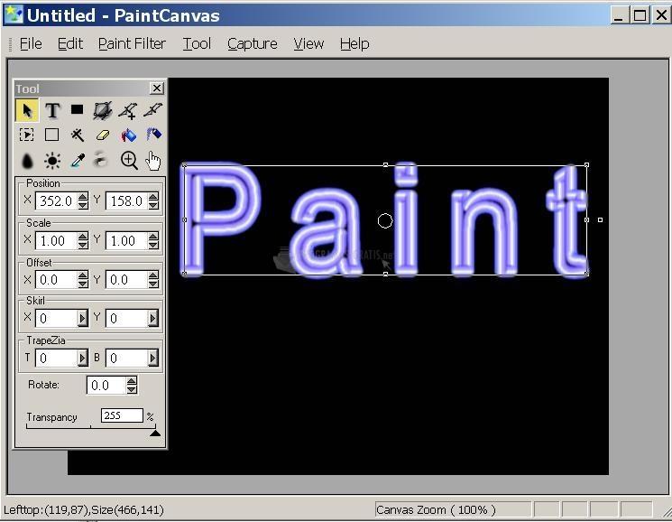 Pantallazo PaintCanvas