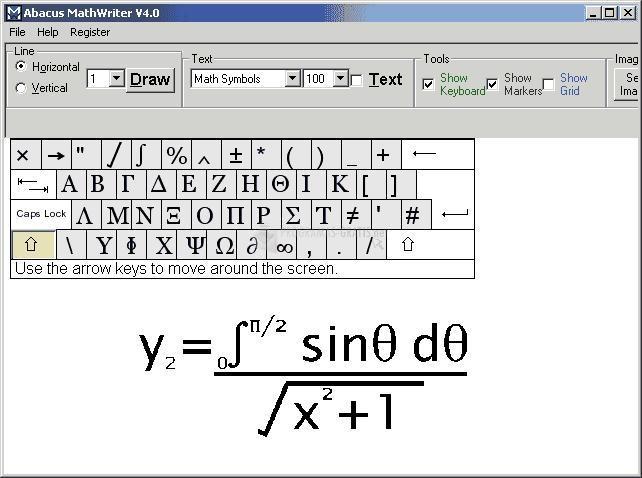 Pantallazo Abacus MathWriter