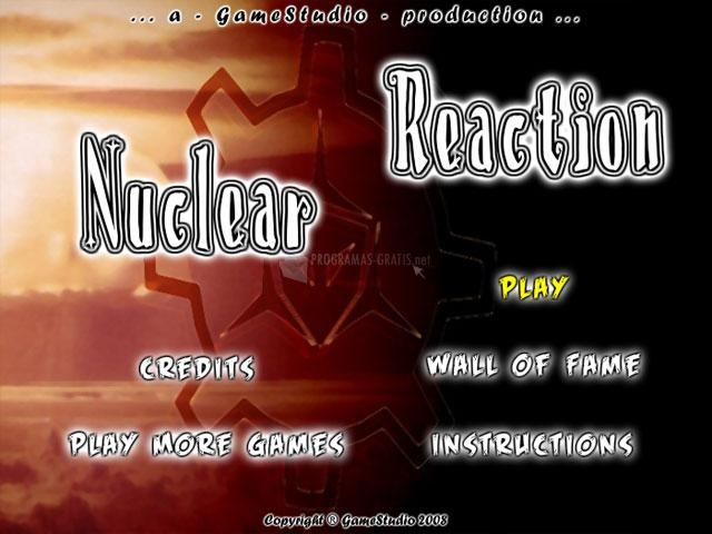 Pantallazo Nuclear Reaction