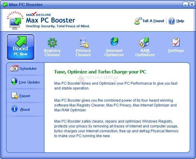 Pantallazo Max PC Booster