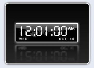 Pantallazo Digital Desktop Clock