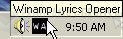 Pantallazo Winamp Lyrics Opener