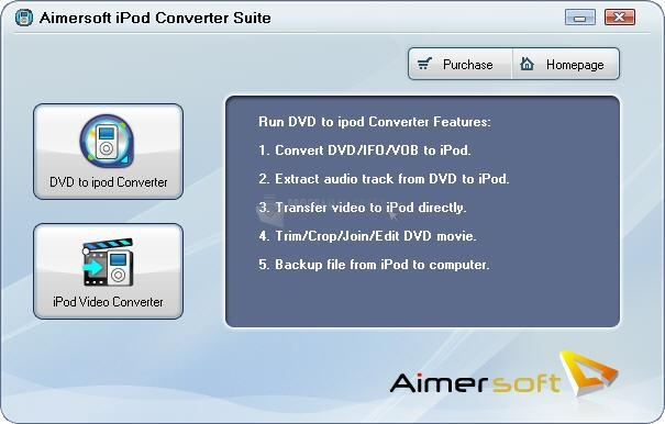 Pantallazo Aimersoft iPod Converter Suite