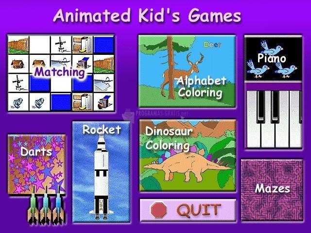 Pantallazo Animated Kid´s Games