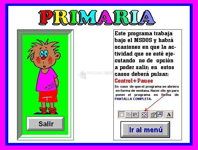 Pantallazo DonSantos Primaria