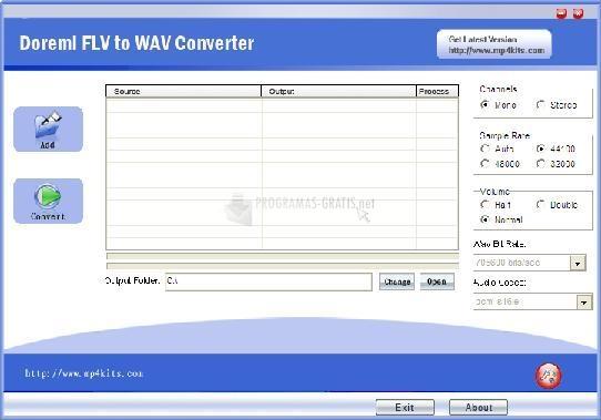Pantallazo Doremisoft FLV to WAV Converter