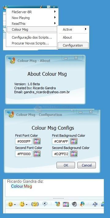 Pantallazo Colour Msg