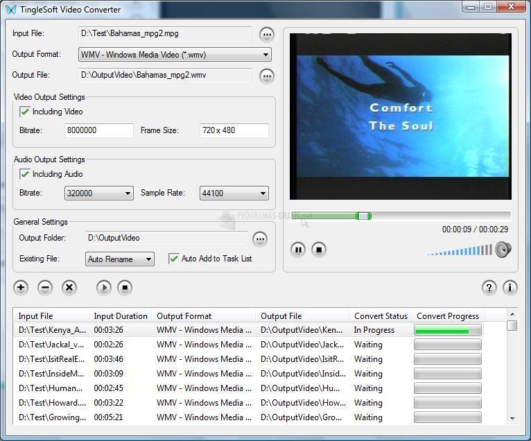 Pantallazo TingleSoft Video Converter