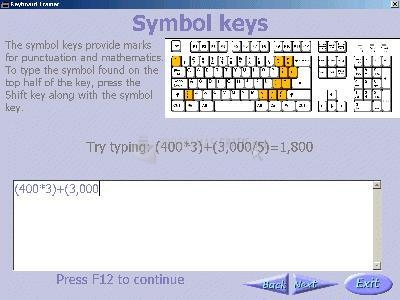 Pantallazo Keyboard Explorer