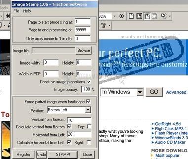 Pantallazo PDF Image Stamp