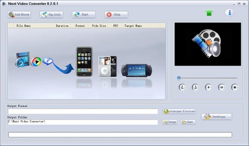 Pantallazo Next Video Converter