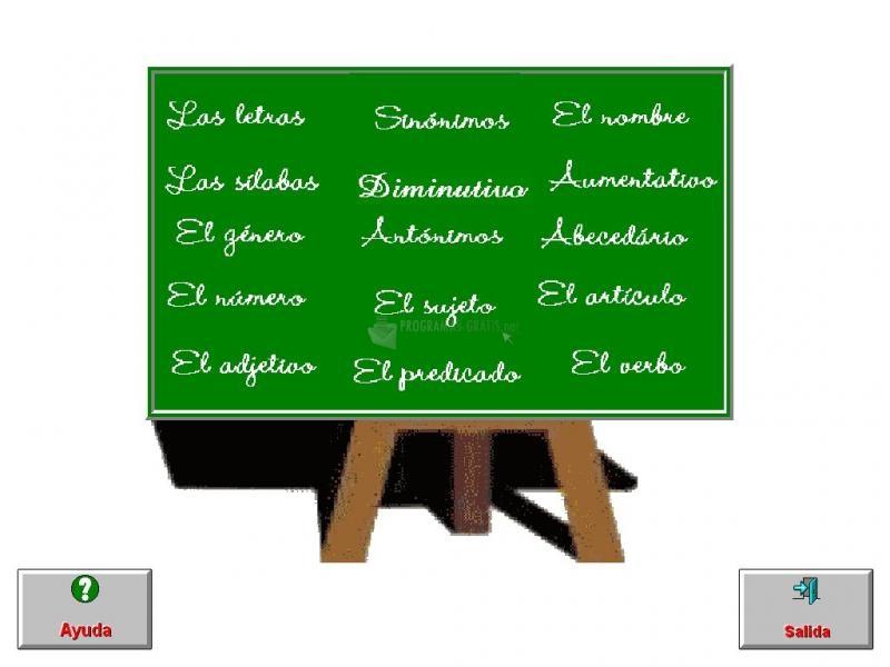 Pantallazo DonSantos Lengua 1º Primaria