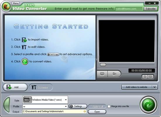 Pantallazo Leawo Video Converter