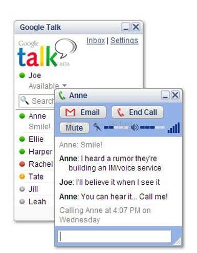 Pantallazo Google Talk Portable