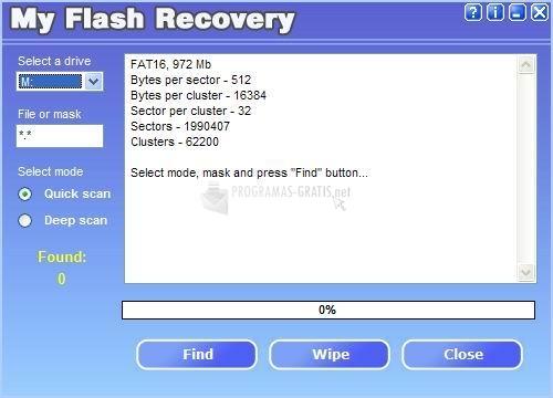 Pantallazo My Flash Recovery