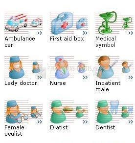 Pantallazo Medical Toolbar Icons 2