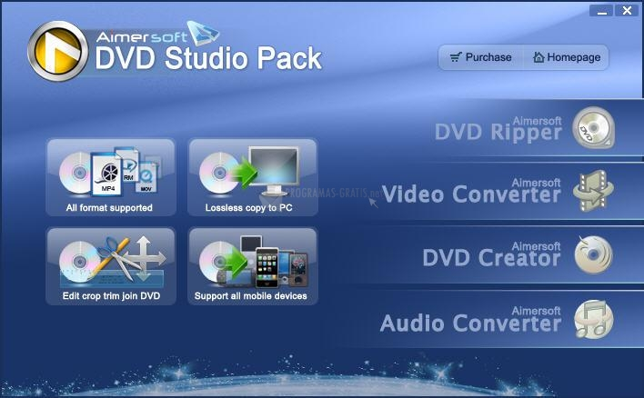 Pantallazo Aimersoft DVD Studio Pack