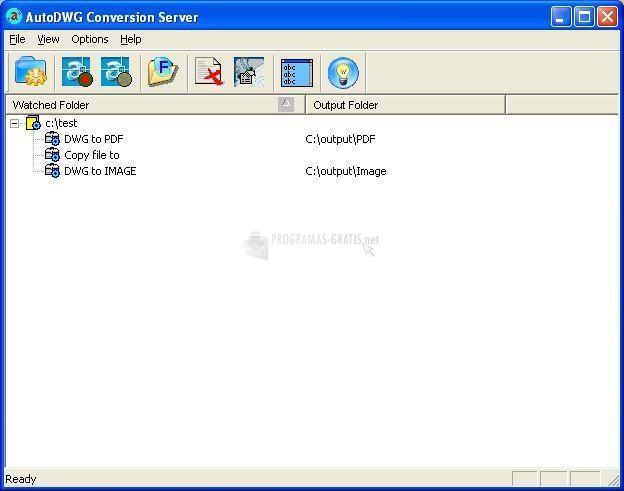 Pantallazo AutoDWG Conversion Server