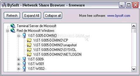 Pantallazo Network Share Browser