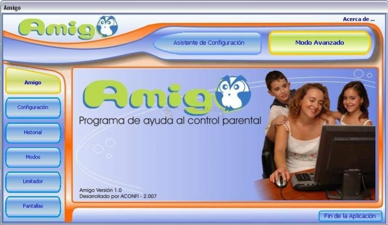 Pantallazo Amigo Control parental