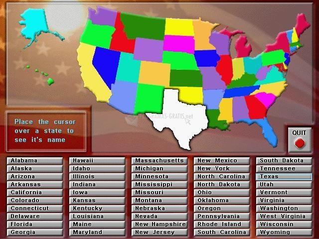 Pantallazo Animated States and Capitals