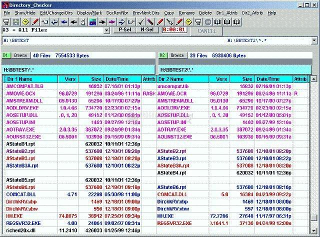 Pantallazo Directory Checker