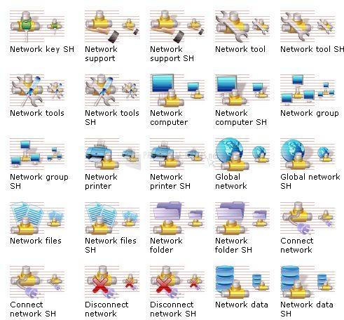 Pantallazo Network Icon Library