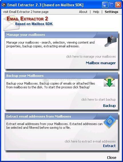Pantallazo Email Extractor