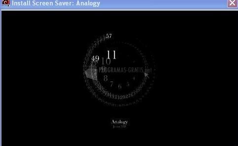 Pantallazo Analogy Screensaver