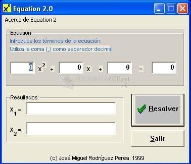 Pantallazo Equation