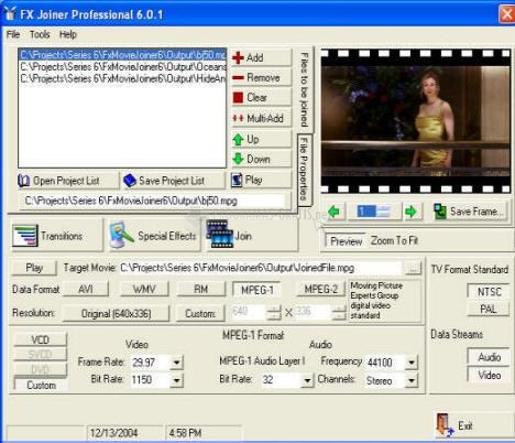 Pantallazo FX Movie Joiner