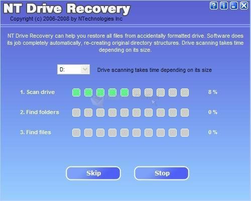 Pantallazo NT Drive Recovery